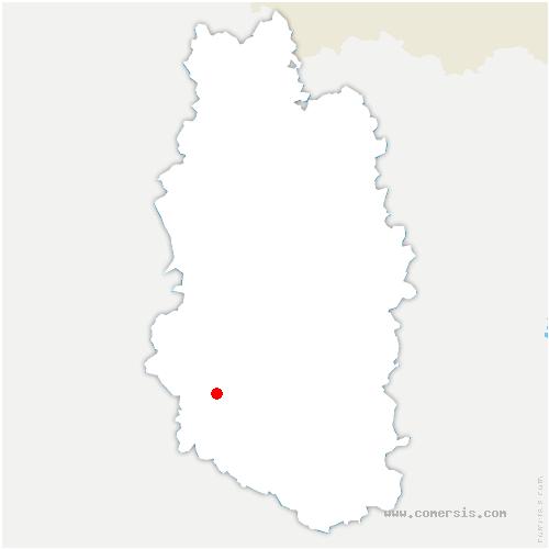 carte de localisation de Combles-en-Barrois