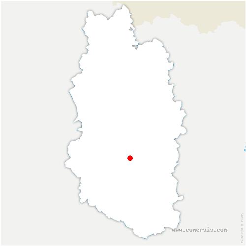 carte de localisation de Courcelles-en-Barrois