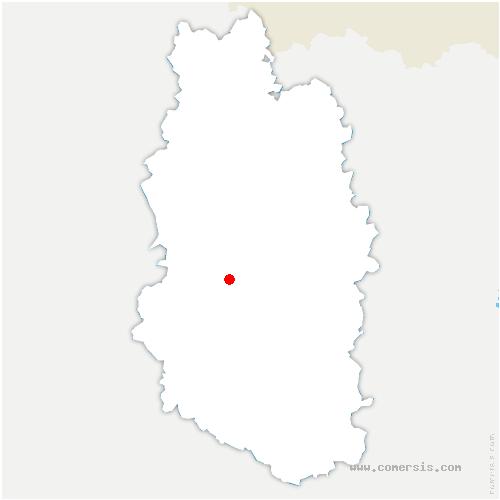 carte de localisation de Courcelles-sur-Aire