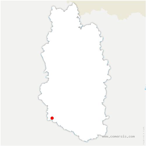 carte de localisation de Cousances-les-Forges