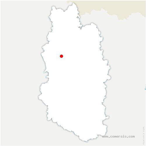 carte de localisation de Dombasle-en-Argonne