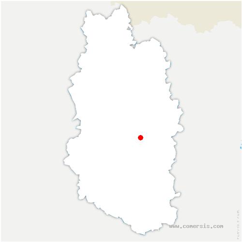 carte de localisation de Dompcevrin