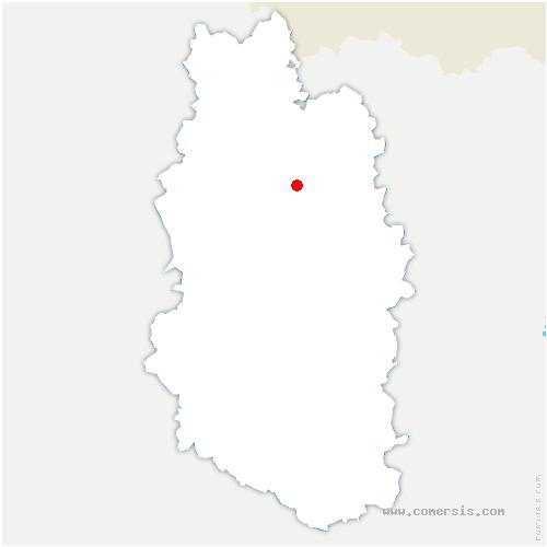 carte de localisation de Douaumont-Vaux