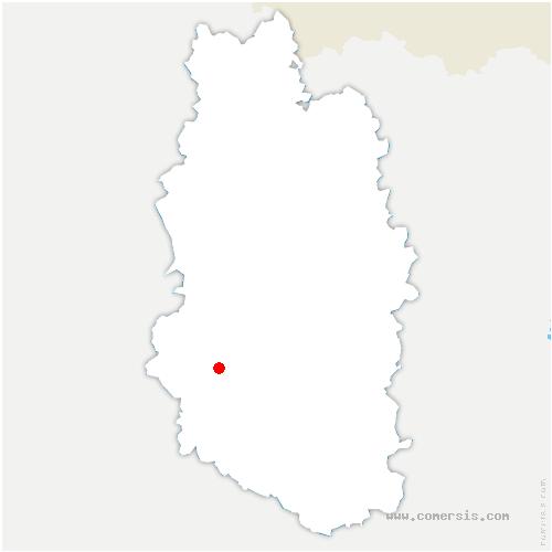 carte de localisation de Fains-Véel