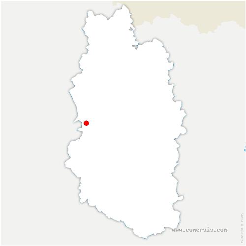 carte de localisation de Foucaucourt-sur-Thabas