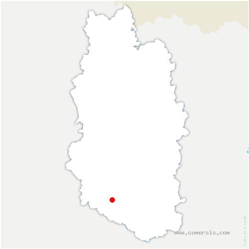 carte de localisation de Fouchères-aux-Bois