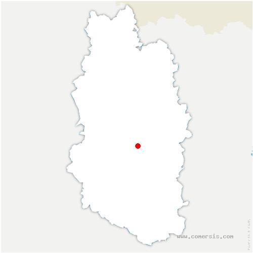 carte de localisation de Fresnes-au-Mont