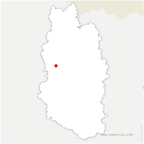 carte de localisation de Froidos