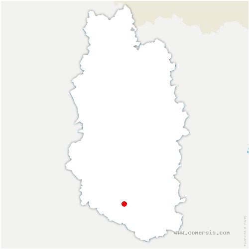 carte de localisation de Hévilliers