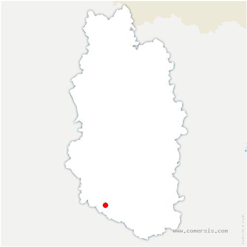 carte de localisation de Juvigny-en-Perthois