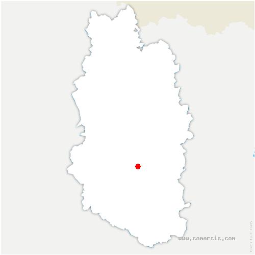 carte de localisation de Lignières-sur-Aire