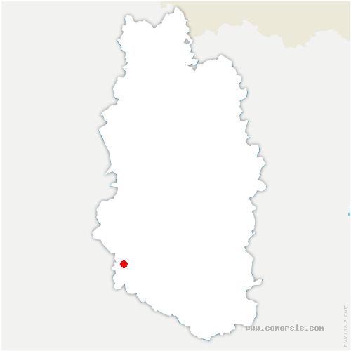 carte de localisation de Lisle-en-Rigault
