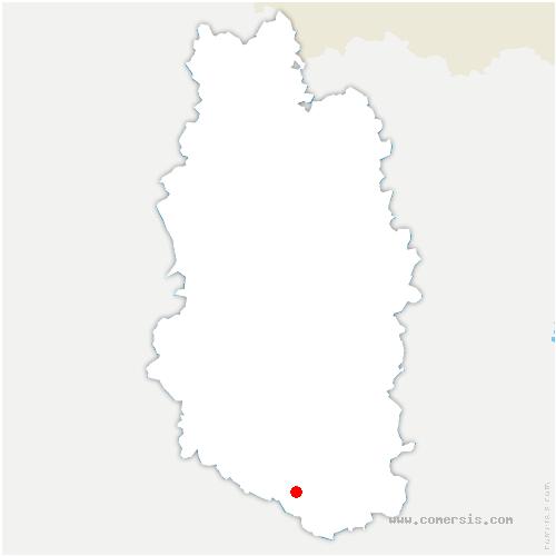 carte de localisation de Mandres-en-Barrois