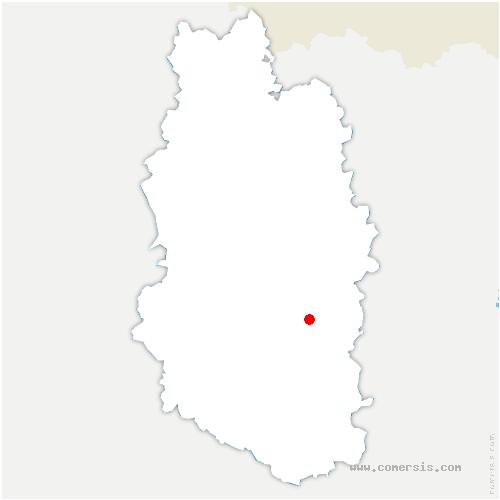 carte de localisation de Mécrin