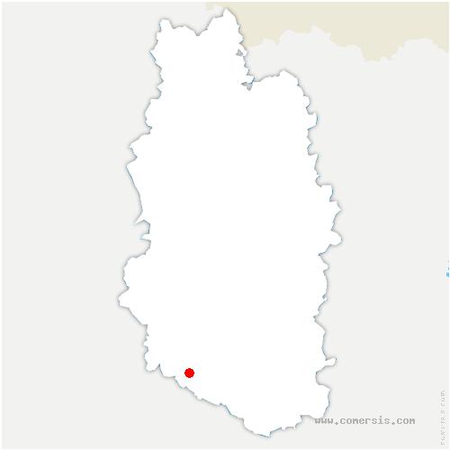 carte de localisation de Ménil-sur-Saulx