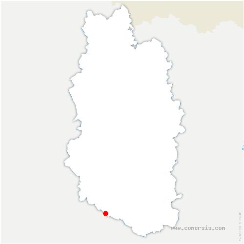 carte de localisation de Montiers-sur-Saulx