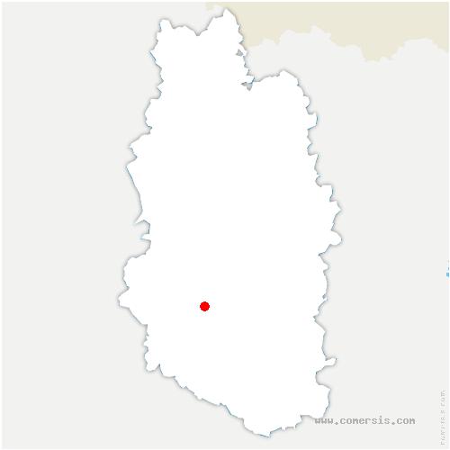 carte de localisation de Naives-Rosières