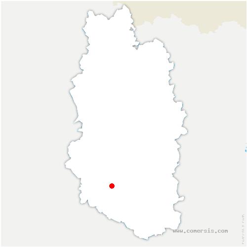 carte de localisation de Nant-le-Grand