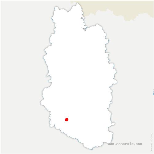 carte de localisation de Nant-le-Petit