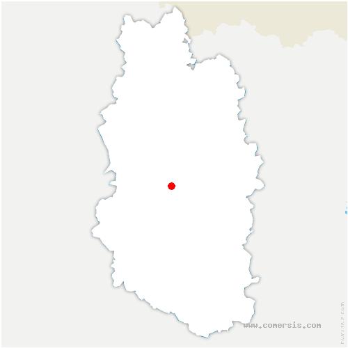 carte de localisation de Neuville-en-Verdunois