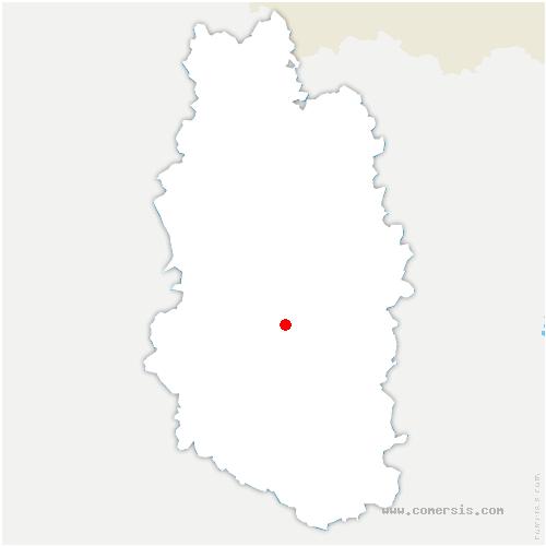 carte de localisation de Nicey-sur-Aire