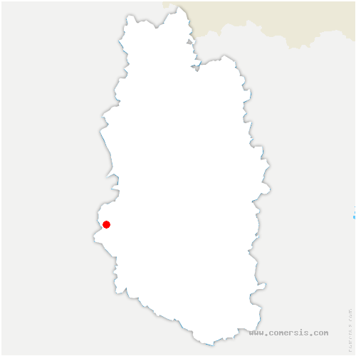 carte de localisation de Noyers-Auzécourt