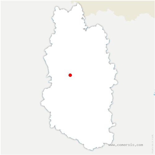 carte de localisation de Osches