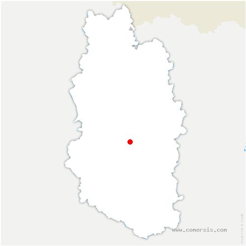 carte de localisation de Pierrefitte-sur-Aire