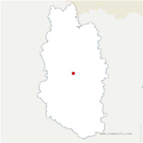 carte de localisation de Rambluzin-et-Benoite-Vaux
