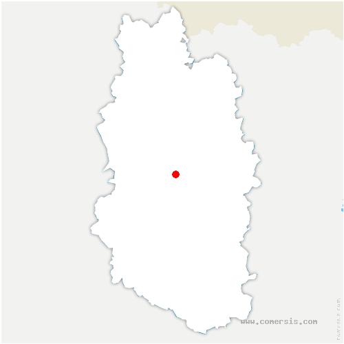 carte de localisation de Récourt-le-Creux