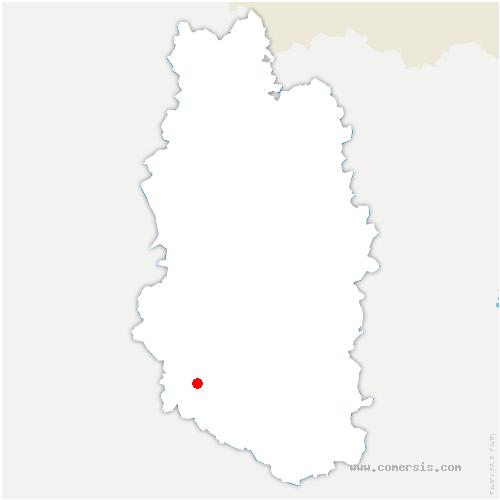 carte de localisation de Rupt-aux-Nonains