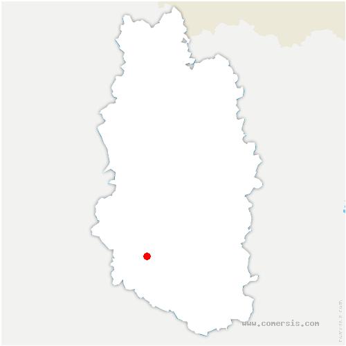 carte de localisation de Tannois