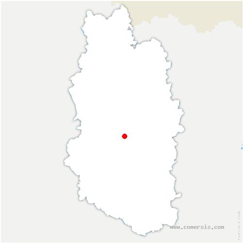 carte de localisation de Thillombois