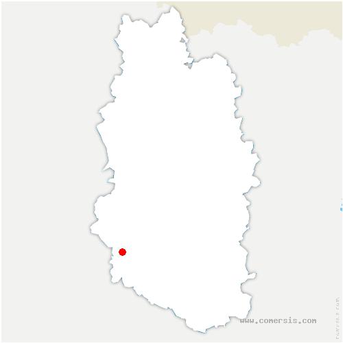 carte de localisation de Trémont-sur-Saulx