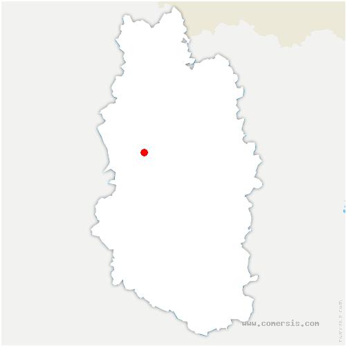 carte de localisation de Ville-sur-Cousances