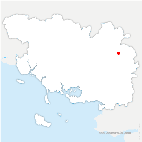 carte de localisation de Augan