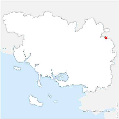 carte de localisation de Beignon
