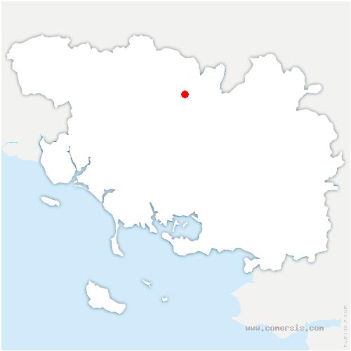 carte de localisation de Évellys