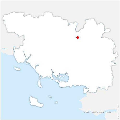 carte de localisation de Forges de Lanouée