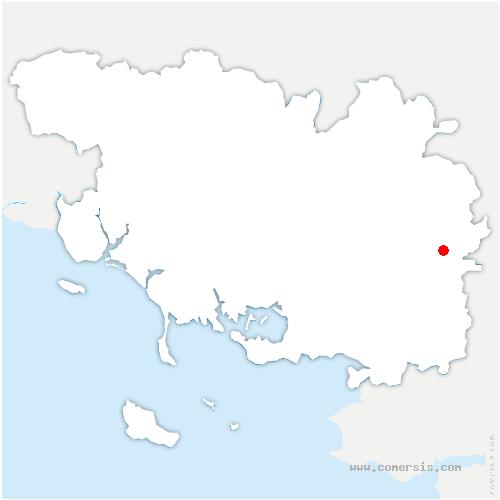 carte de localisation de Gacilly