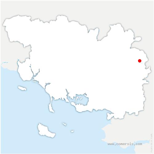 carte de localisation de Guer