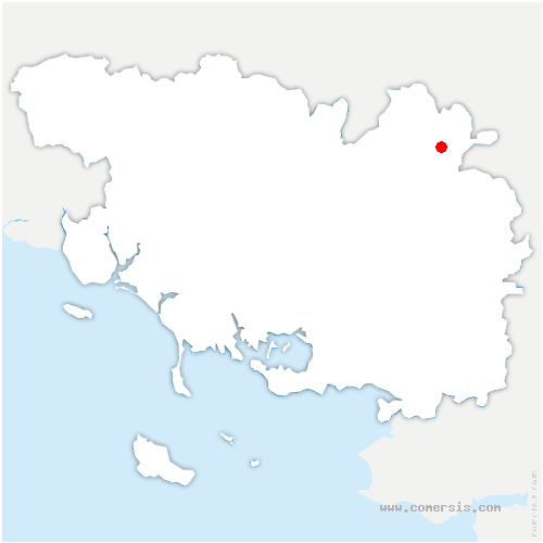carte de localisation de Néant-sur-Yvel