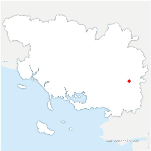 carte de localisation de Peillac