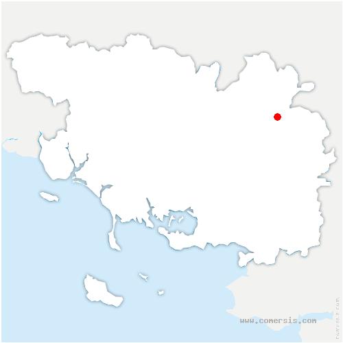 carte de localisation de Ploërmel