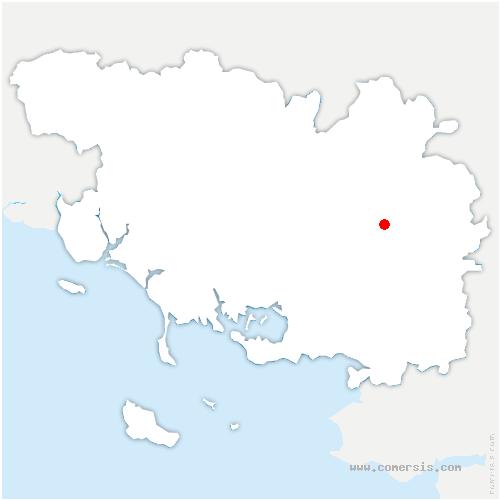 carte de localisation de Saint-Abraham