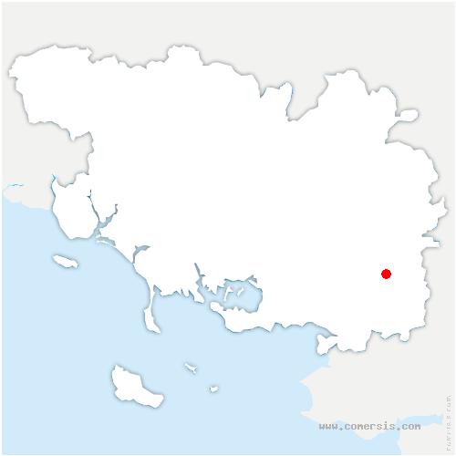 carte de localisation de Saint-Jacut-les-Pins