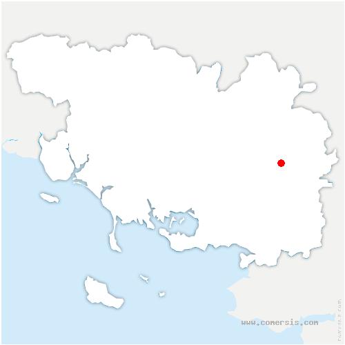 carte de localisation de Saint-Laurent-sur-Oust
