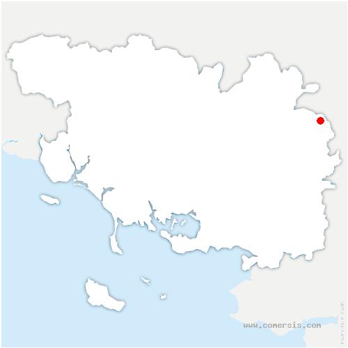 carte de localisation de Saint-Malo-de-Beignon
