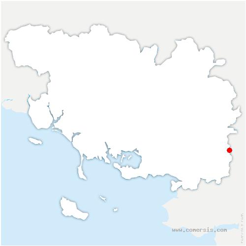 carte de localisation de Saint-Perreux