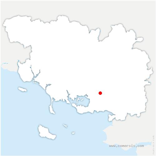 carte de localisation de Theix-Noyalo